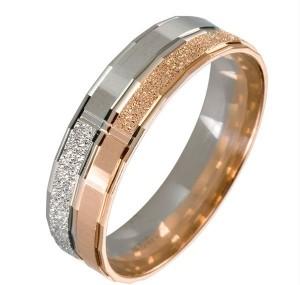 кольцо для молодоженов из двух видов золота