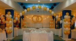 фото оригинальных идей украшения зала шарами на свадьбу