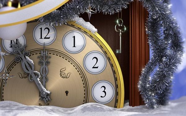 до нового года осталось 5 минут