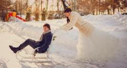 яркие идеи для проведения свадьбы зимой