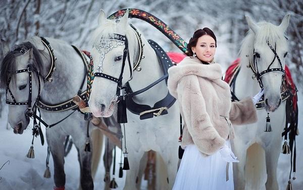фотосессия с лошадьми и санями