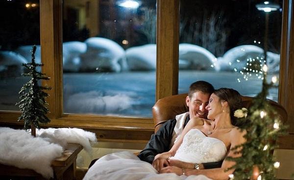 свадьба в холодную зиму