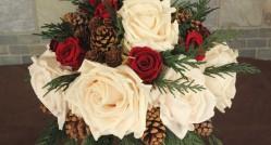 интересный букет невесты для зимней свадьбы