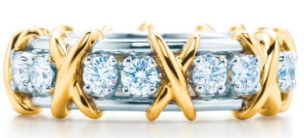 кольцо из коллекции Кольцо Sixteen Stone из коллекции Tiffany & Co. Schlumberger