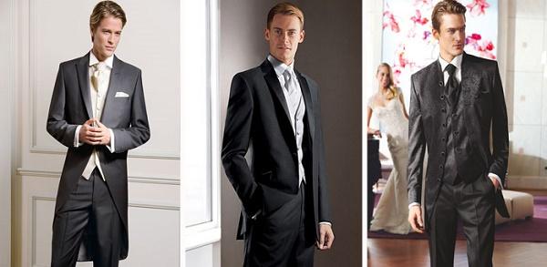 летний красивый костюм-визитка для свадьбы