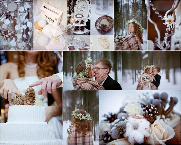 идеи для лучшей зимней свадьбы, сочетание бохо и рустик